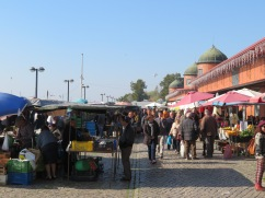 The market was very busy today, the busiest I've ever seen it.