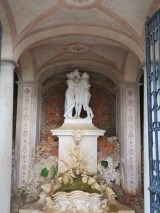 The three graces in the Pousada grotto.