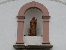 This old terra cotta Madonna dates back to the 1300's.