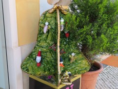 Recycled materials used in the town decorations.....this year Bells.