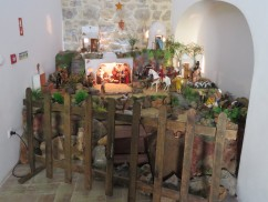 This enormous nativity scene was upstairs in the loft of a small chapel. Quite detailed with all kinds of working parts.