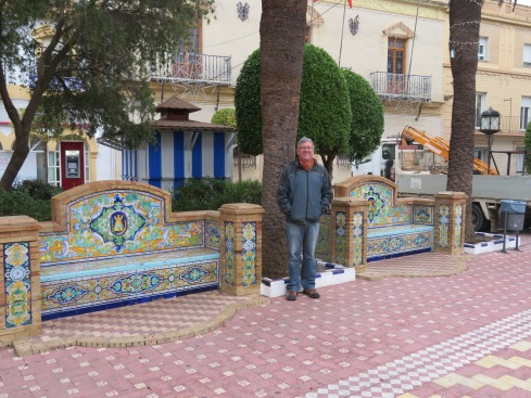 The tilework in Spain is everywhere and is quite beautiful. It brightens up even the dreariest of days.
