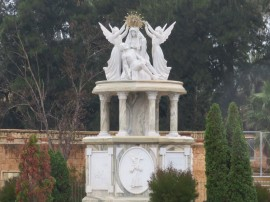 This lovely monument was across the river from our walk.