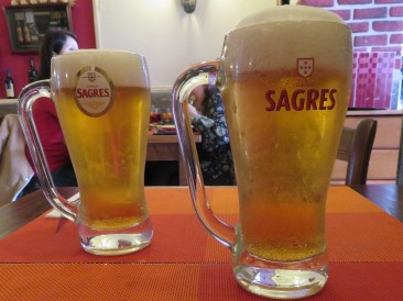 Our lovely cold Sagres.