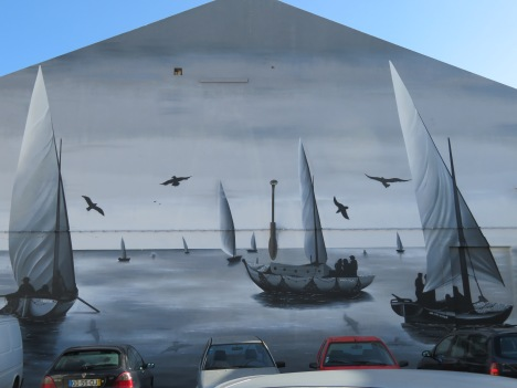 A beautiful wall mural near the old market.