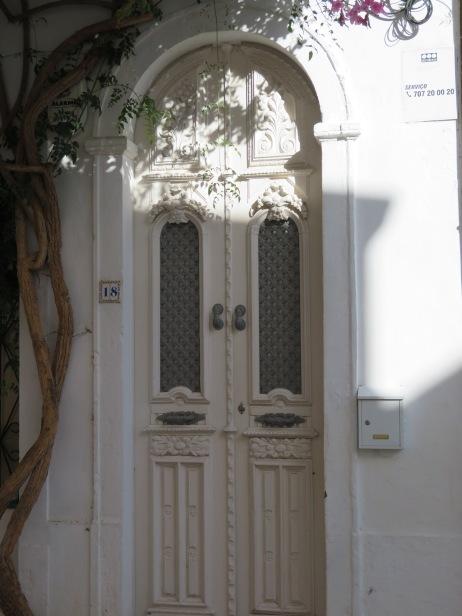 I love how the light was dancing on this door.
