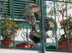 I loved spotting this Portuguese rooster high up on the third floor balcony.