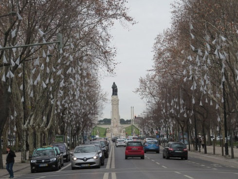 Avenida da Liberdade facing The Marquess of Pombal Square