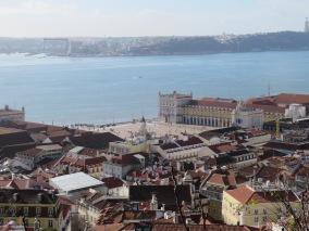 A view of the Tagus River from the Castelo São Jorge