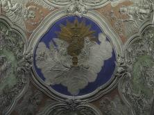 Miradouro da Senhora do Monte interior ceiling shot.