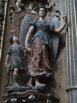 I loved this statue inside the church atMiradouro da Senhora do Monte