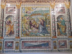 Photos don't cut it but.....these hand made, hand painted tiles from the 16th century are amazing.