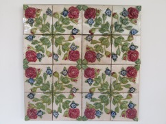 These hand made tiles and three dimensional, absolutely gorgeous.
