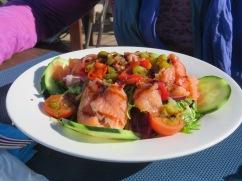 Patricia's smoked salmon salad