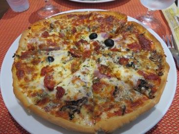 My Portuguese sausage pizza
