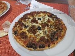 Patricia's Bolognese pizza