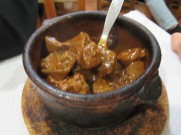 Marc devoured this wonderfully rich and satisfying vitela com molho, veal in sauce.