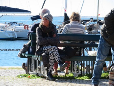 This woman is here every Saturday sitting in the same place. She certainly looks weathered but her smile is wonderful.