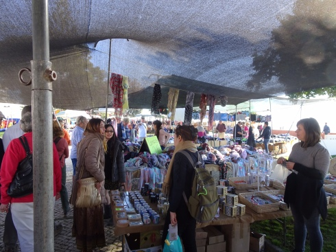 A gypsy market was in full swing near the actual market building. It was well attended.