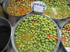 We bought some of these wonderful Spanish olives. Such wonderful flavour.