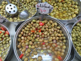 As well we bought a quantity of these.....you can never have too many olives!!