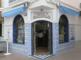 The local pharmacy is beautiful with the decorative tiles.