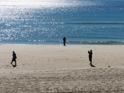 Pat, Marc and Gary.....each immersed in their own thoughts and activity. I love the glistening of the lovely Atlantic.