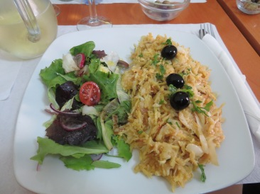 Fabulous Bacalhau a Bras compliments of Ana and Simão