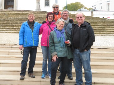 Our crew of the day......Ken, Bonnie, Pat, Marc, Gary and moi!! We don't let wind keep us at home.