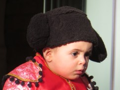 How cute is this little matador?