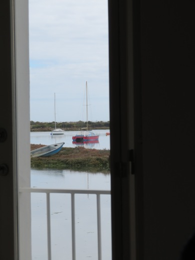 Our view out the doorway while enjoying lunch.