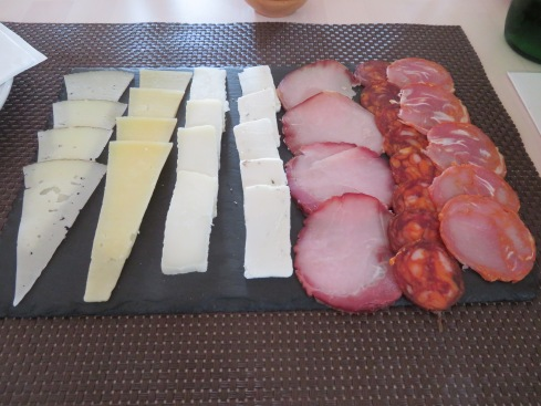 Portuguese cheeses and sausages......delicious.