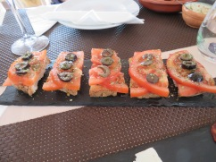 Crips bruschetta with an amazing olive oil and summer tasting tomatoes.