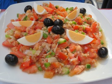 A bright and tasty tuna salad was the choice of Patricia