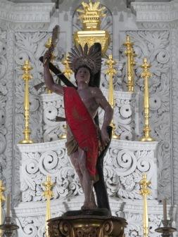 A detail inside the church.