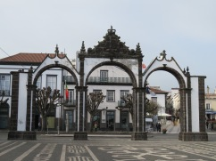 The gates, which were not always here. They were moved here many years ago.