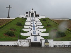 The chapel of Nossa Senhora da Paz. Marc and I climbed to the top...note the raindrops on the photo