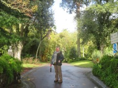 At the entrance to one of the wonderful gardens we visited. Jardim Antonio Borges