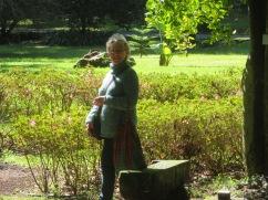 Patricia enjoying the garden explorations.