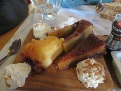 Our dessert platter.......