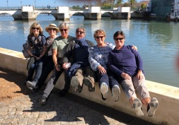 The Roman bridge in the background.........and a bunch of silly Canadians in the fore!