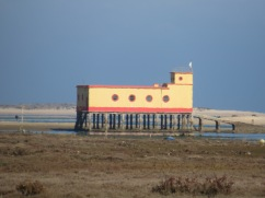 The old salt tax building on the Ria Formas near Fuzeta.......usually we take this shot from the other direction.