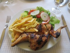 Pat and I enjoyed this frango no churrasco, grilled chicken.