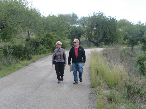 A live action shot!!! Patricia and Gary enjoying the great outdoors.