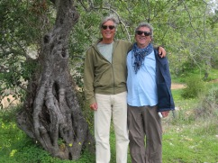 Marc next to two old gnarled trees!!! Oh wait, that's me!! I'm not that much taller than Marc, I'm on a slight slope.