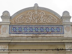 Detail in the area above the entrance.
