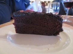 According to our resident expert on desserts, this was amazing chocolate cake!!