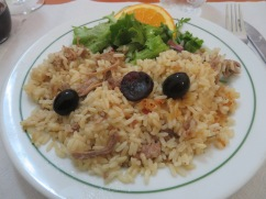 Arroz de pato........duck rice, one of our very favourites.