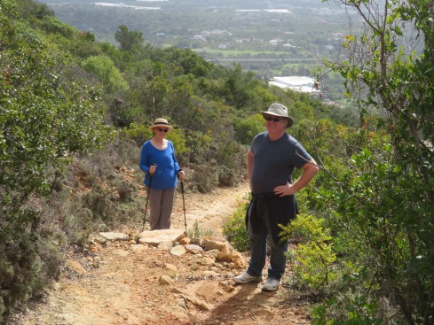 Patricia and Gary, enthusiastic for the hike and thrilled with the temperatures.
