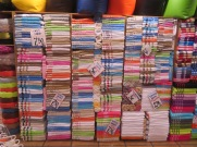 Look at the array of colours and prices of these towels. Most of these things are 100% cotton, a real deal.